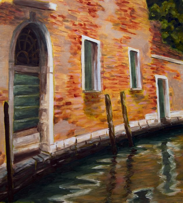 """Venice Canal"" original fine art by Rachel Steely"