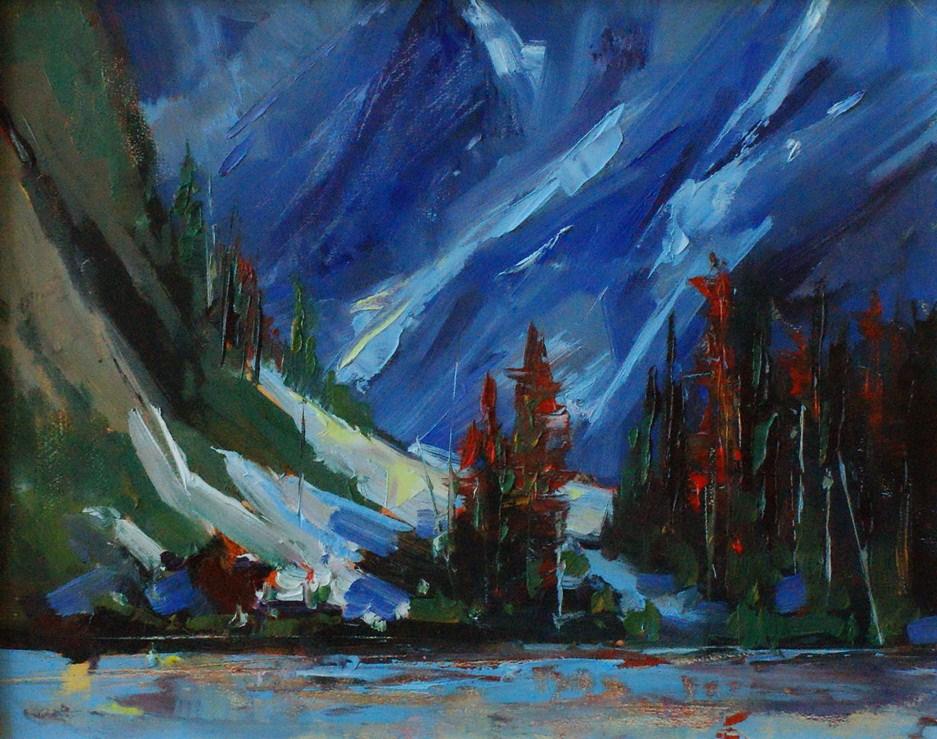 """""""Late  Melt"""" original fine art by Brian Buckrell"""
