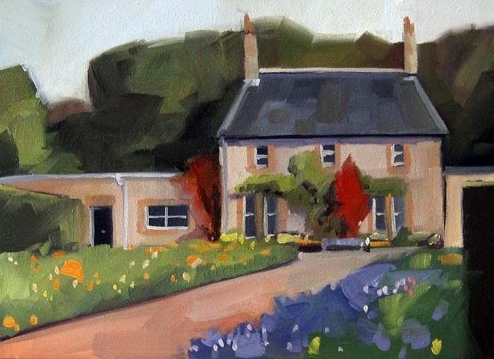 """""""No 800 English Garden"""" original fine art by Robin J Mitchell"""