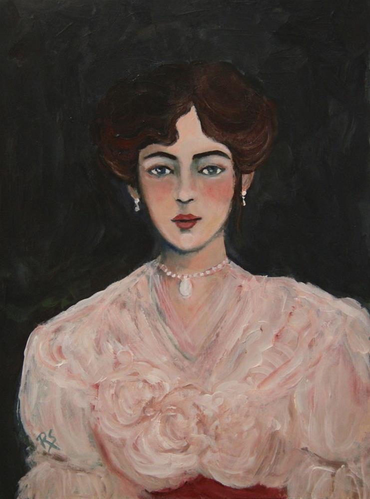 """Lady Agnes"" original fine art by Roberta Schmidt"