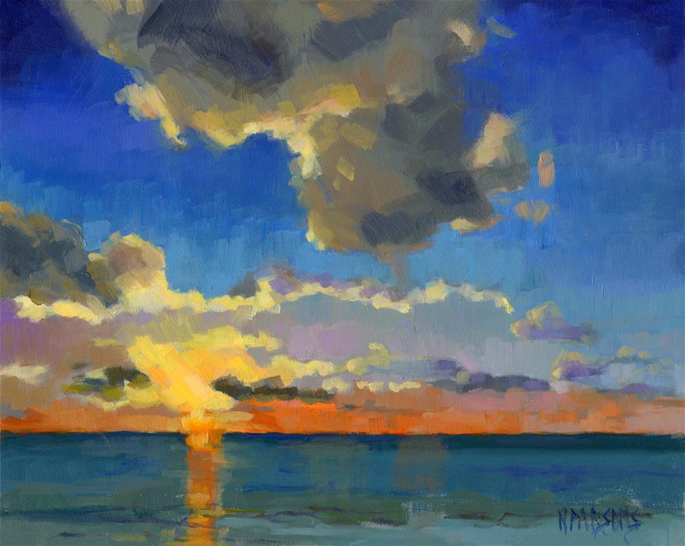 """First Light (framed)"" original fine art by Nancy Parsons"