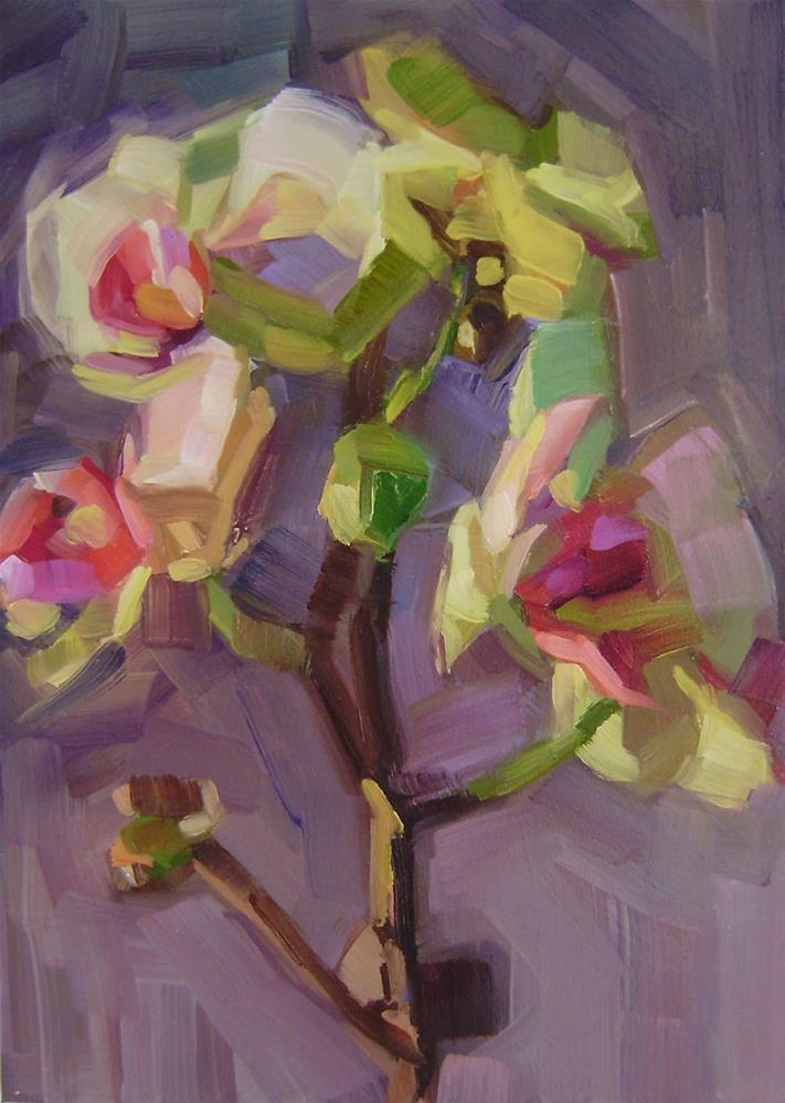 """Orchid 2"" original fine art by Holly Storlie"