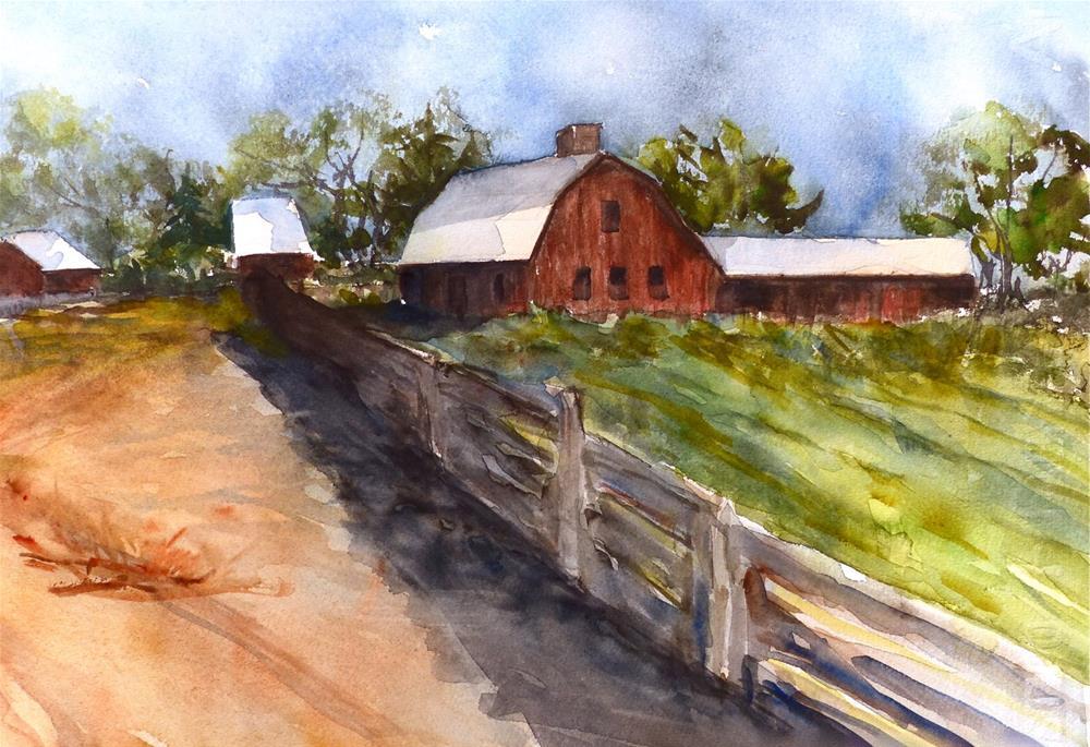 """""""Rural Afternoon"""" original fine art by Judith Freeman Clark"""