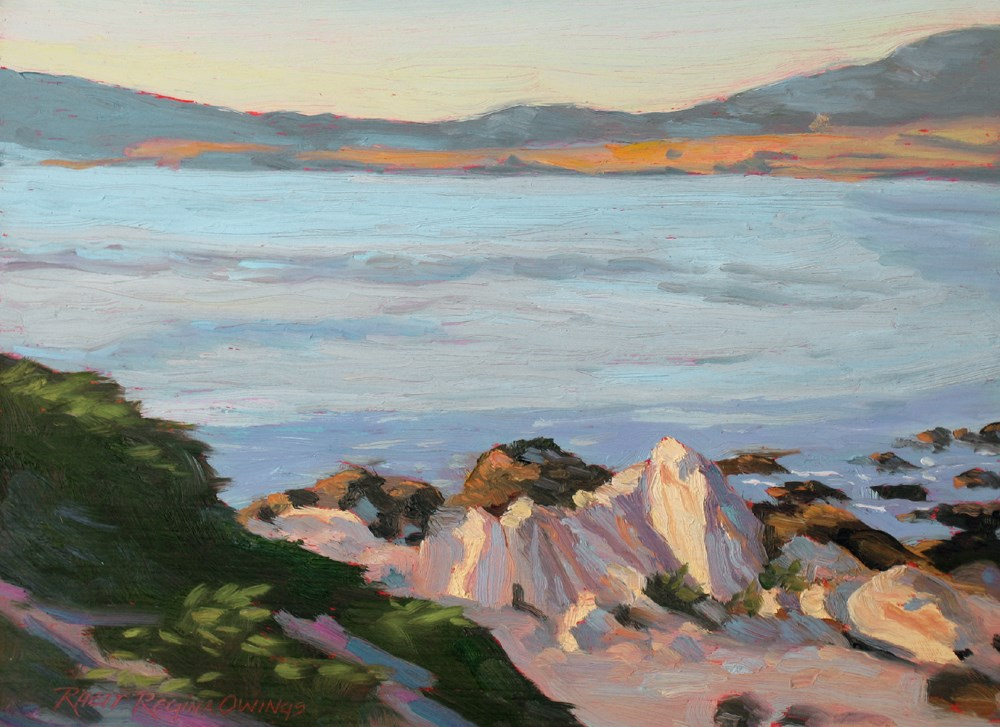"""Sunlit Beach Rocks"" original fine art by Rhett Regina Owings"