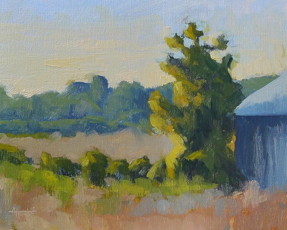 """Caney Road Sunset"" original fine art by Adam Houston"