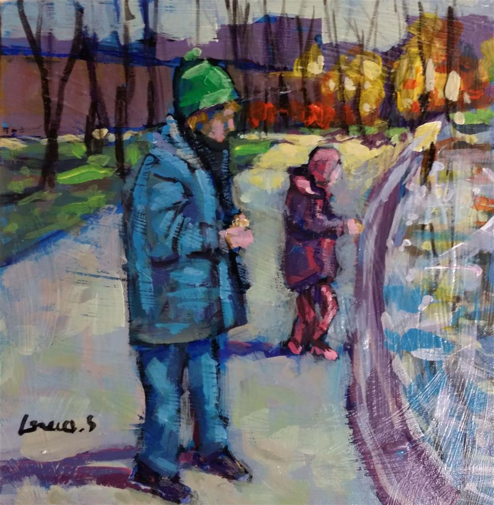"""""""playing outside"""" original fine art by salvatore greco"""