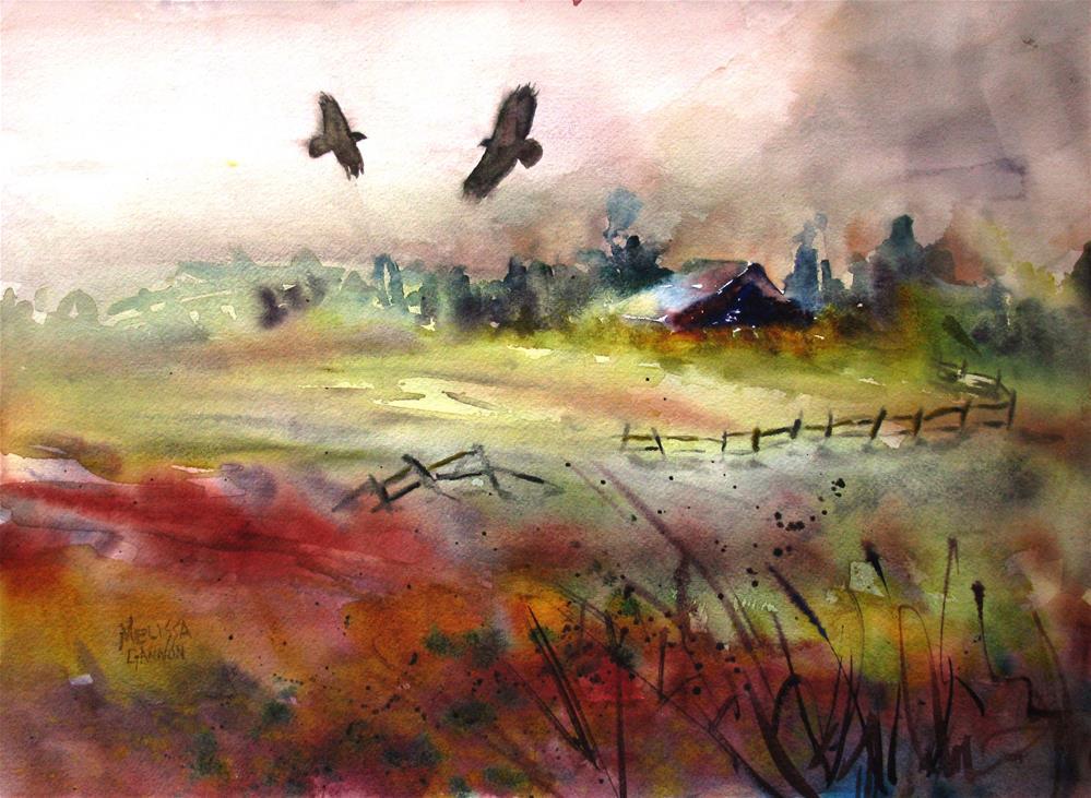 """Old Homestead"" original fine art by Melissa Gannon"