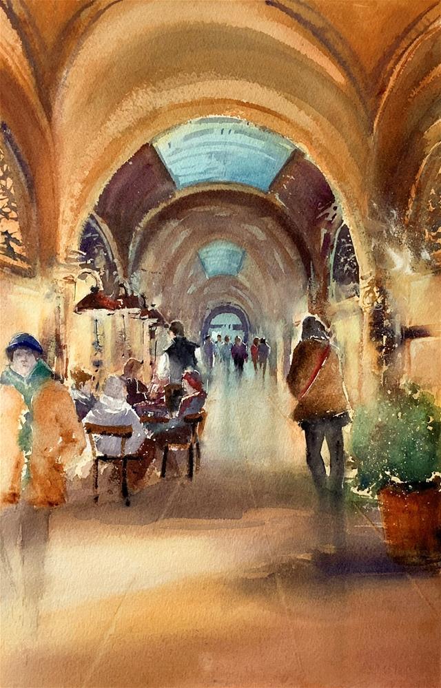 """""""Passage Palais Ferstel"""" original fine art by Christa Friedl"""