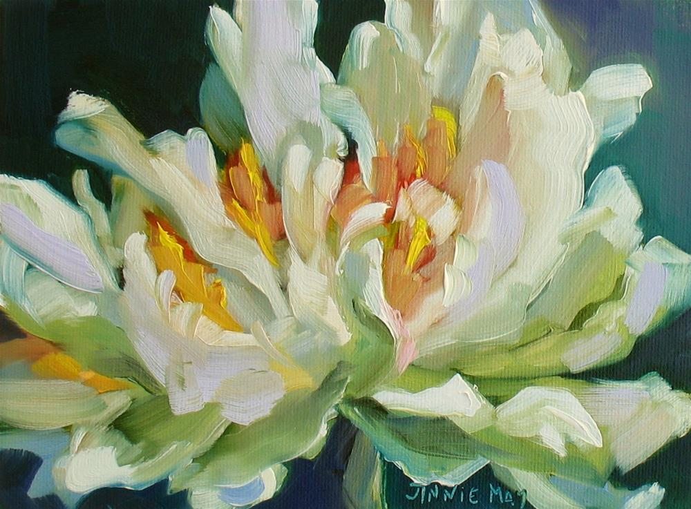 """Green Peony"" original fine art by Jinnie May"