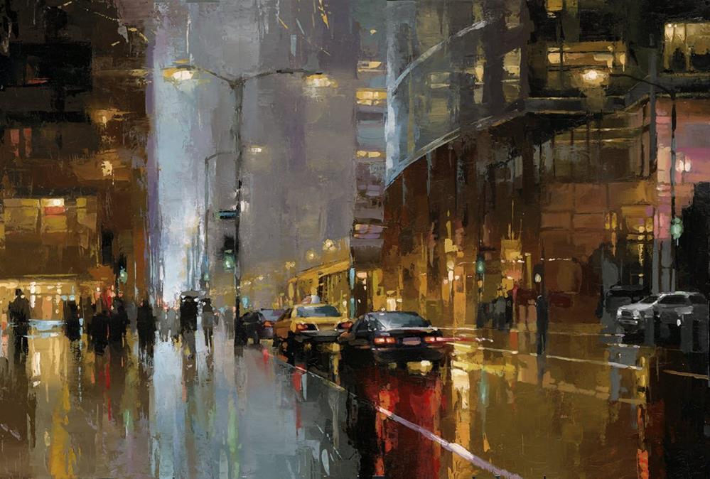 """NYC - Lipstick Building"" original fine art by Victor Bauer"