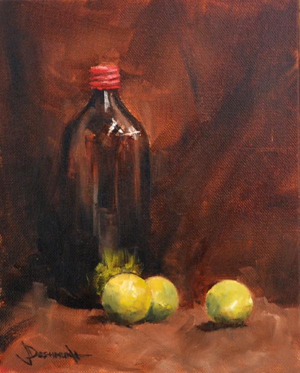 """Still Life with Lemons"" original fine art by Vinayak Deshmukh"