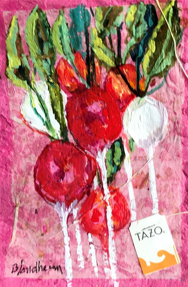 """""""Radishes"""" original fine art by Linda Blondheim"""