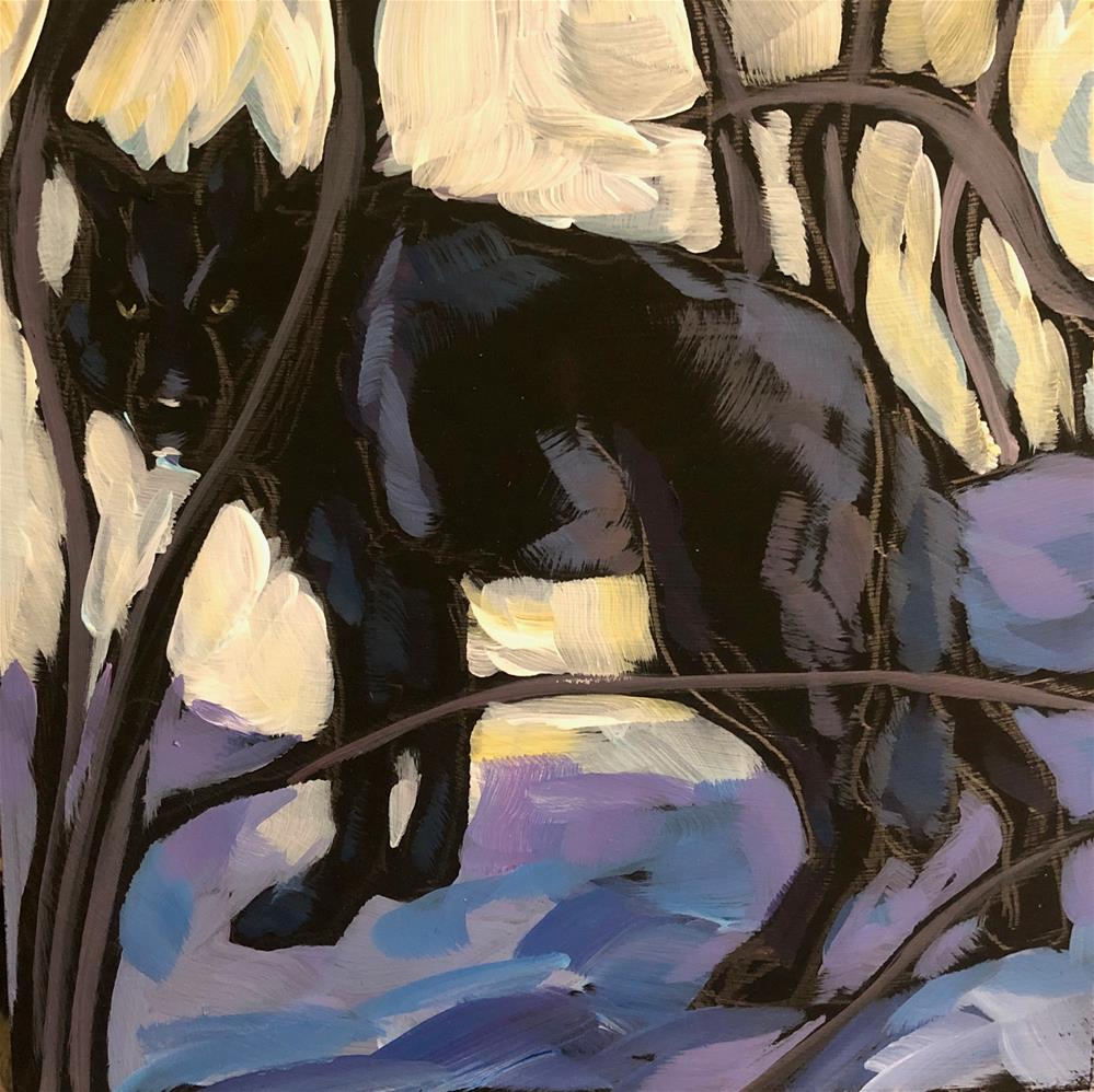 """Wolf in the Woods"" original fine art by Kat Corrigan"