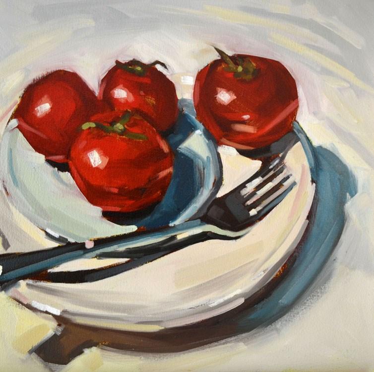 """Fork and Friends"" original fine art by Jessica Green"