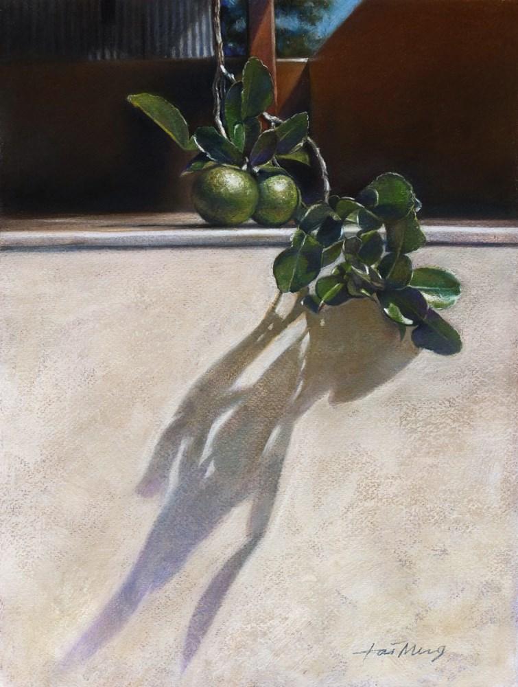 """""""Limes Under The Sunlight"""" original fine art by TaiMeng Lim"""