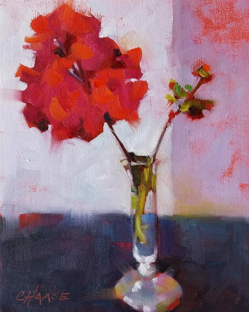 """""""Red Floral 112"""" original fine art by Cindy Haase"""