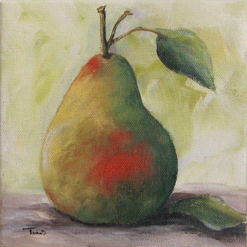 """A Simple Pear"" original fine art by Torrie Smiley"