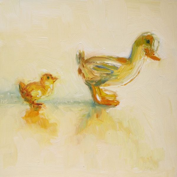 """Getting My Ducks in a Row"" original fine art by Mb Warner"