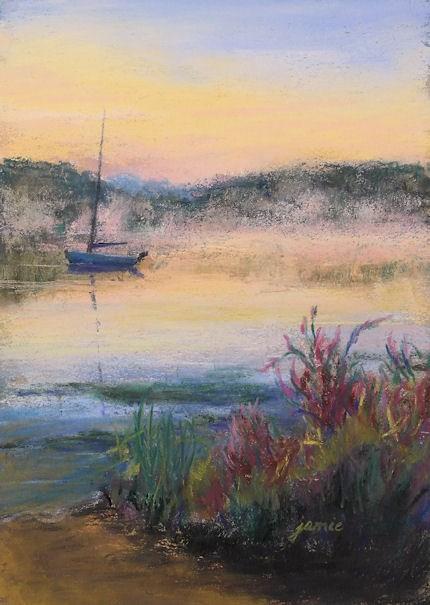 """Pink Mist at Sunrise"" original fine art by Jamie Williams Grossman"