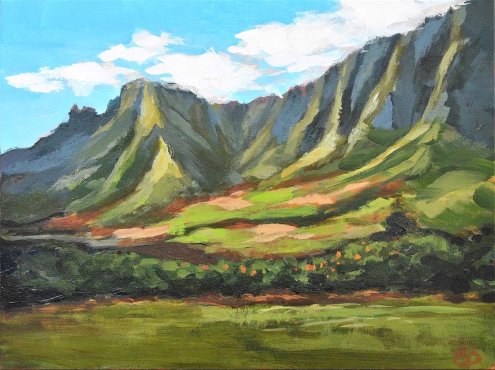 """Windward Oahu"" original fine art by Shari Buelt"