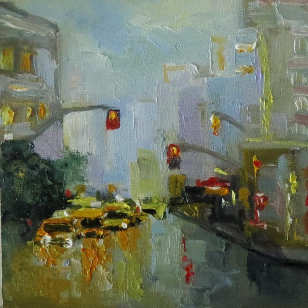 """Rainy lights"" original fine art by Astrid Buchhammer"