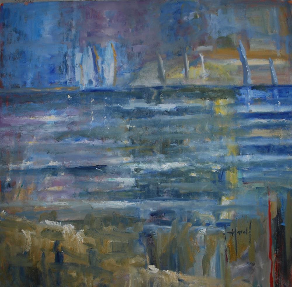 """Regatta"" original fine art by Deborah Harold"