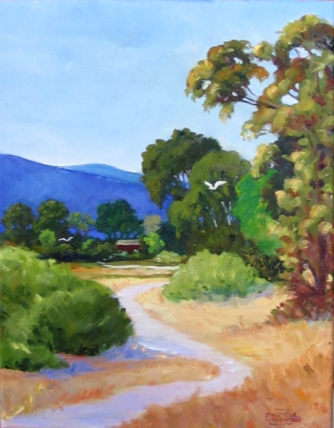 """Baylands Trail"" original fine art by Patricia Musgrave"