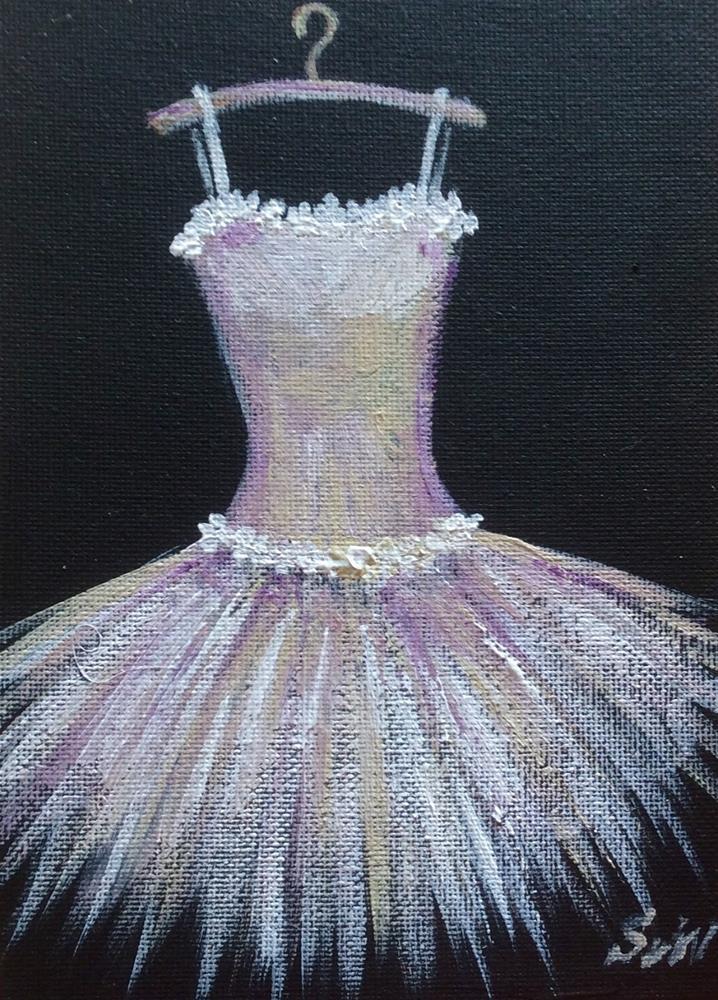 """""""White toutou dress"""" original fine art by Sonia von Walter"""