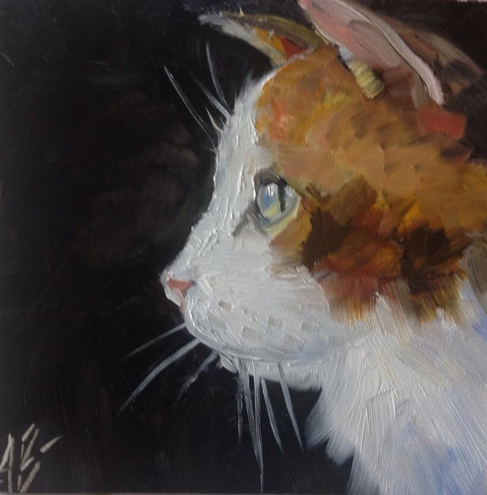 """Calico Cat"" original fine art by Annette Balesteri"