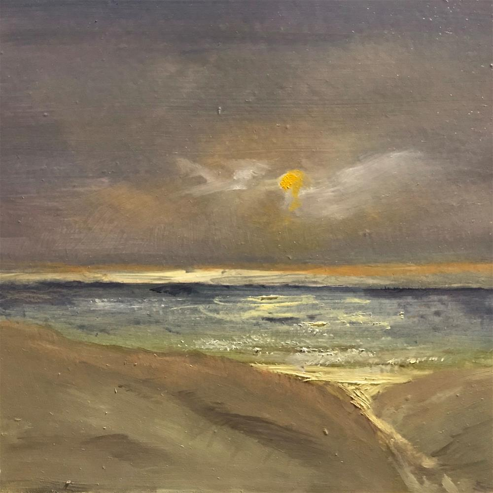 """evening sun on the waves"" original fine art by Betty Argiros"