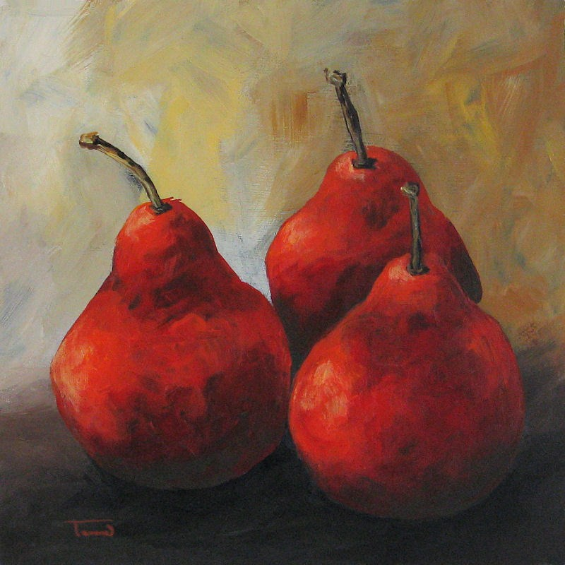 """Rose Red Pears"" original fine art by Torrie Smiley"