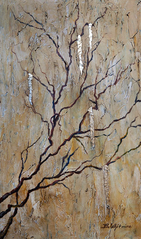 """""""Icy Branches"""" original fine art by Barbara Whitmire"""