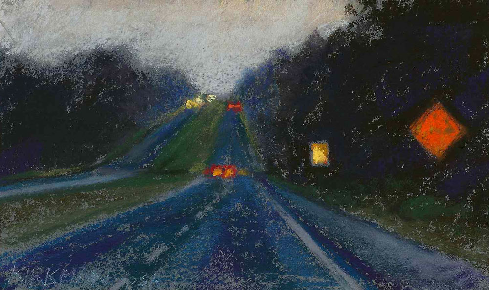 """Road Sketch 21"" original fine art by Rita Kirkman"