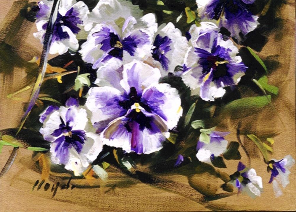 """""""Pansies"""" original fine art by Diane Lloyd"""
