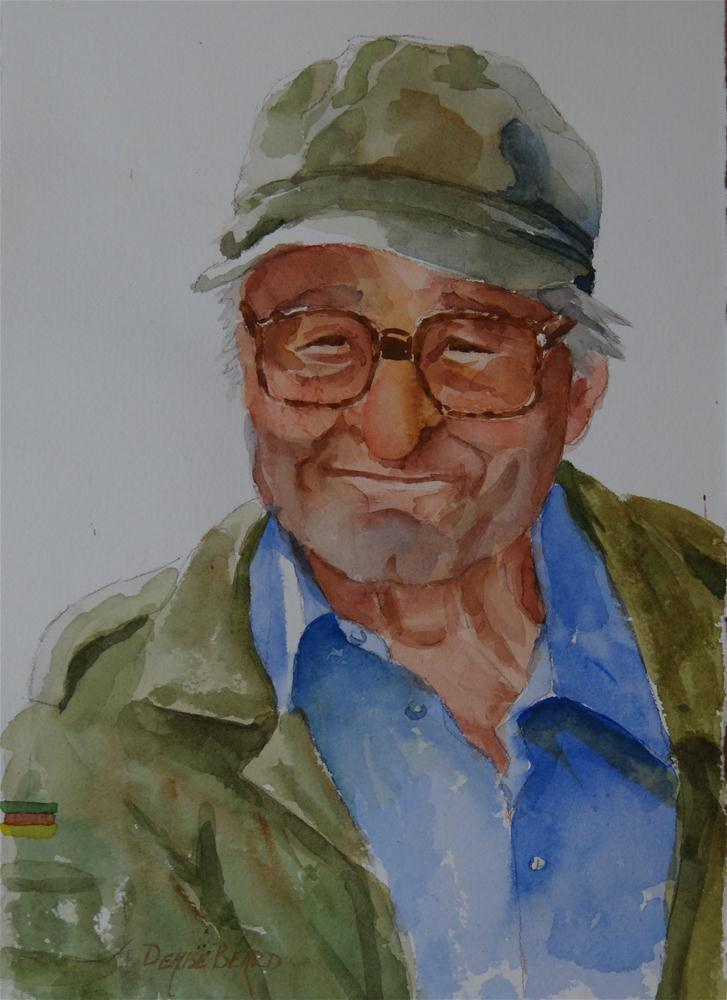 """Citta Della Pieve Farmer II"" original fine art by Denise Beard"
