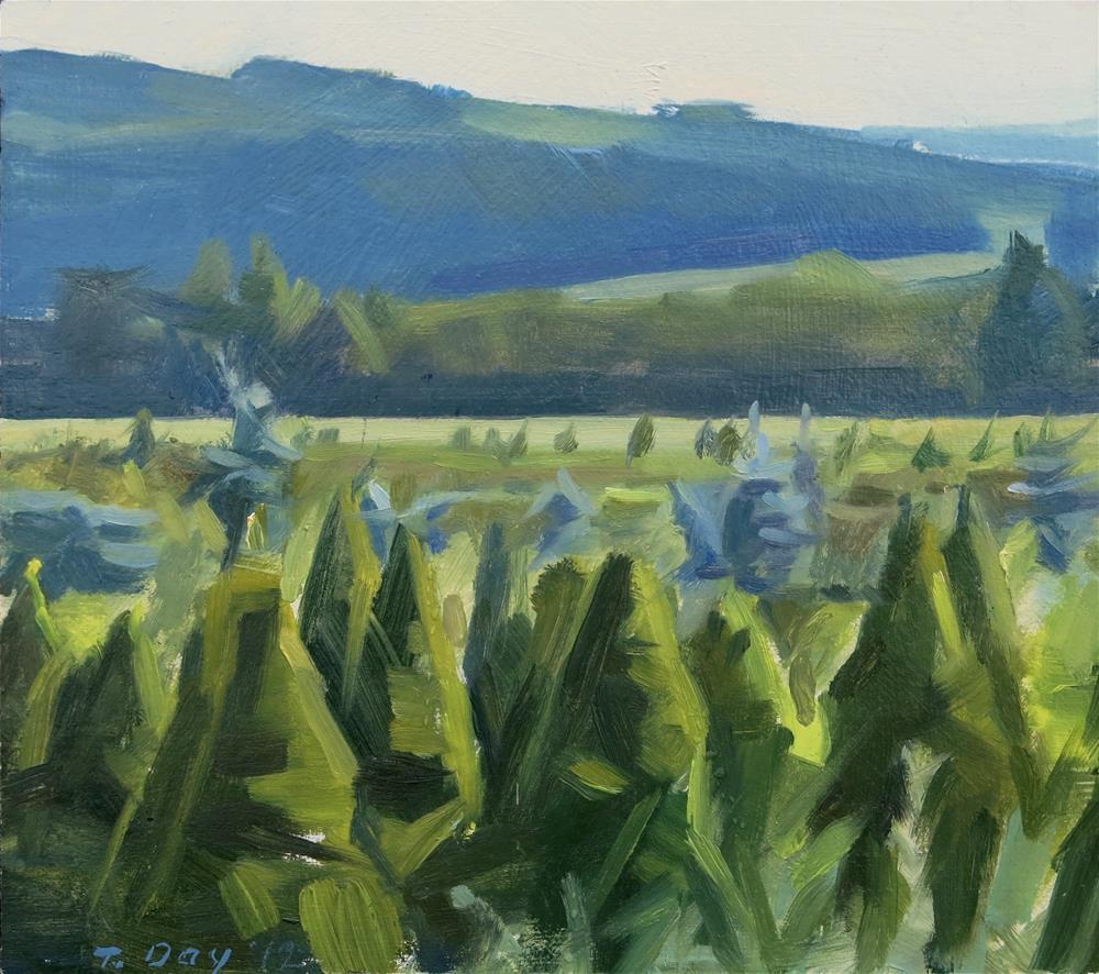"""""""Carbon County Tree Farm"""" original fine art by Taryn Day"""