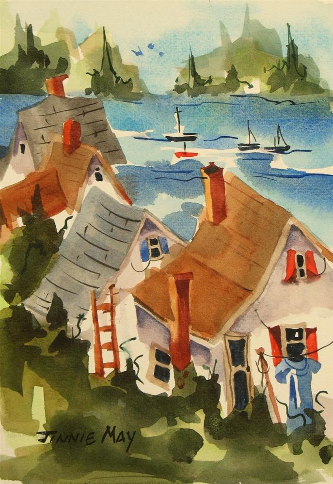 """Down East , Maine"" original fine art by Jinnie May"