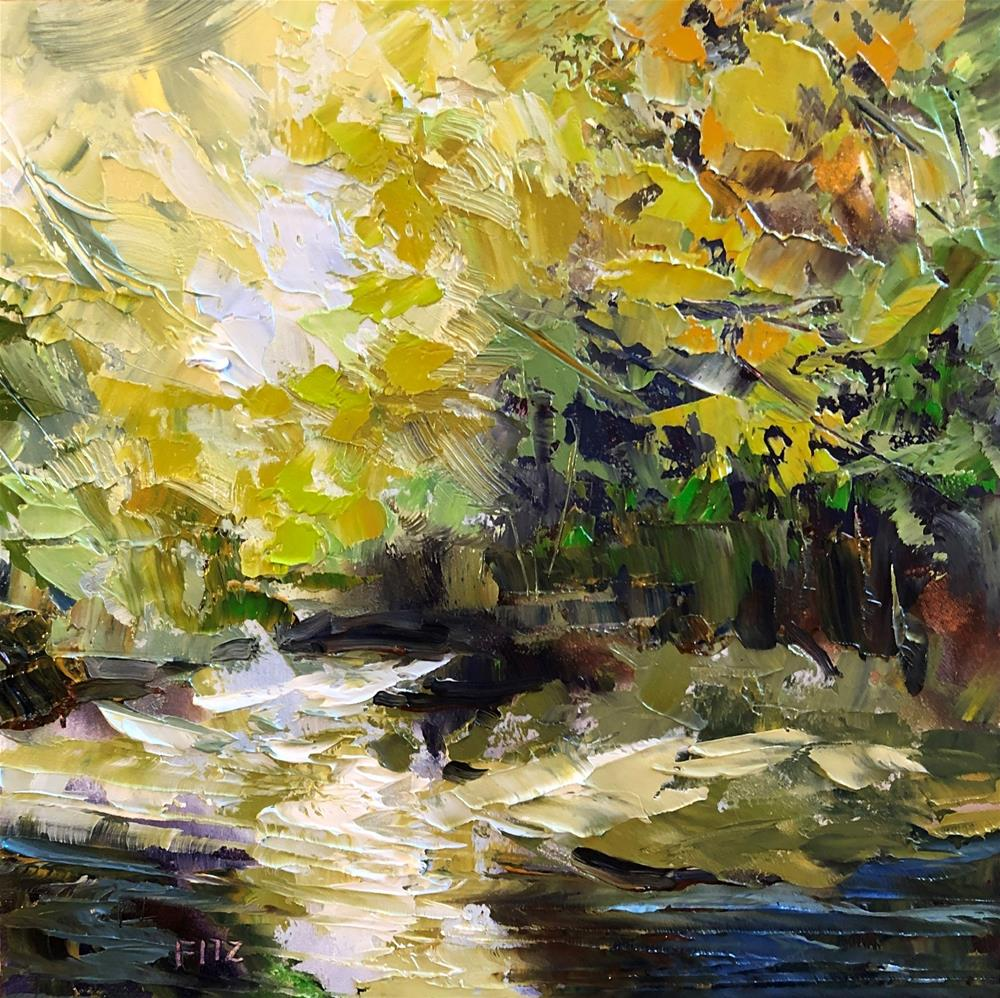 """Impasto Landscape Study 21"" original fine art by Charlotte Fitzgerald"