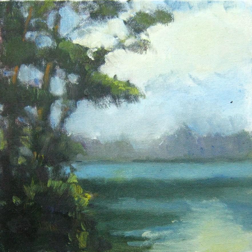 """Coastal Marsh"" original fine art by Connie Snipes"