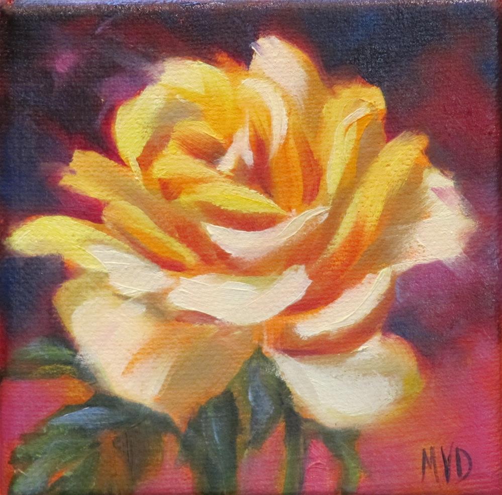 """Yellow Rose"" original fine art by Mary Van Deman"