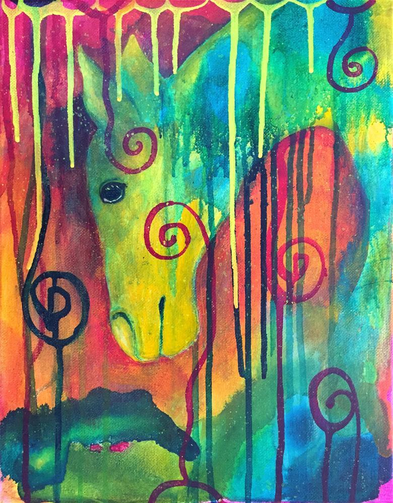"""""""All is Peace"""" original fine art by Silke Powers"""