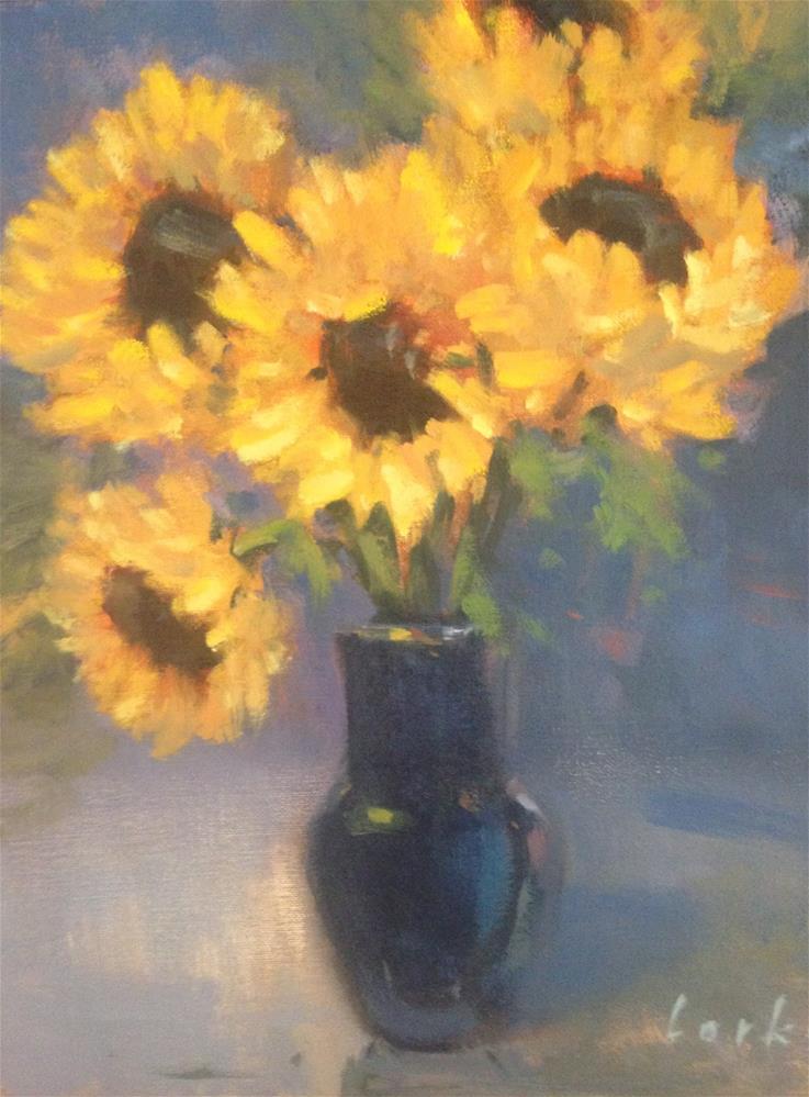 """Sunflowers"" original fine art by David Forks"