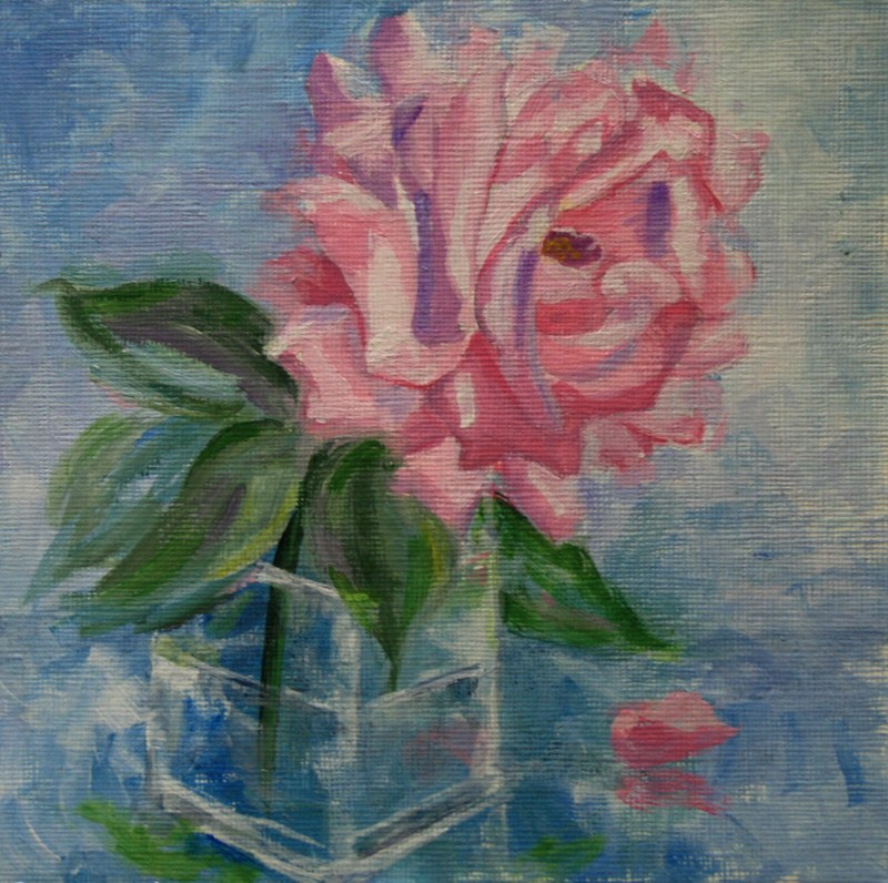 """Silver Lining Rose"" original fine art by Jean Nelson"