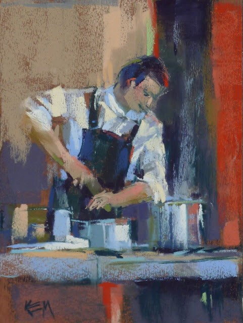"""Painting Provence part 7 ...Personal Chef Extraordinaire!"" original fine art by Karen Margulis"