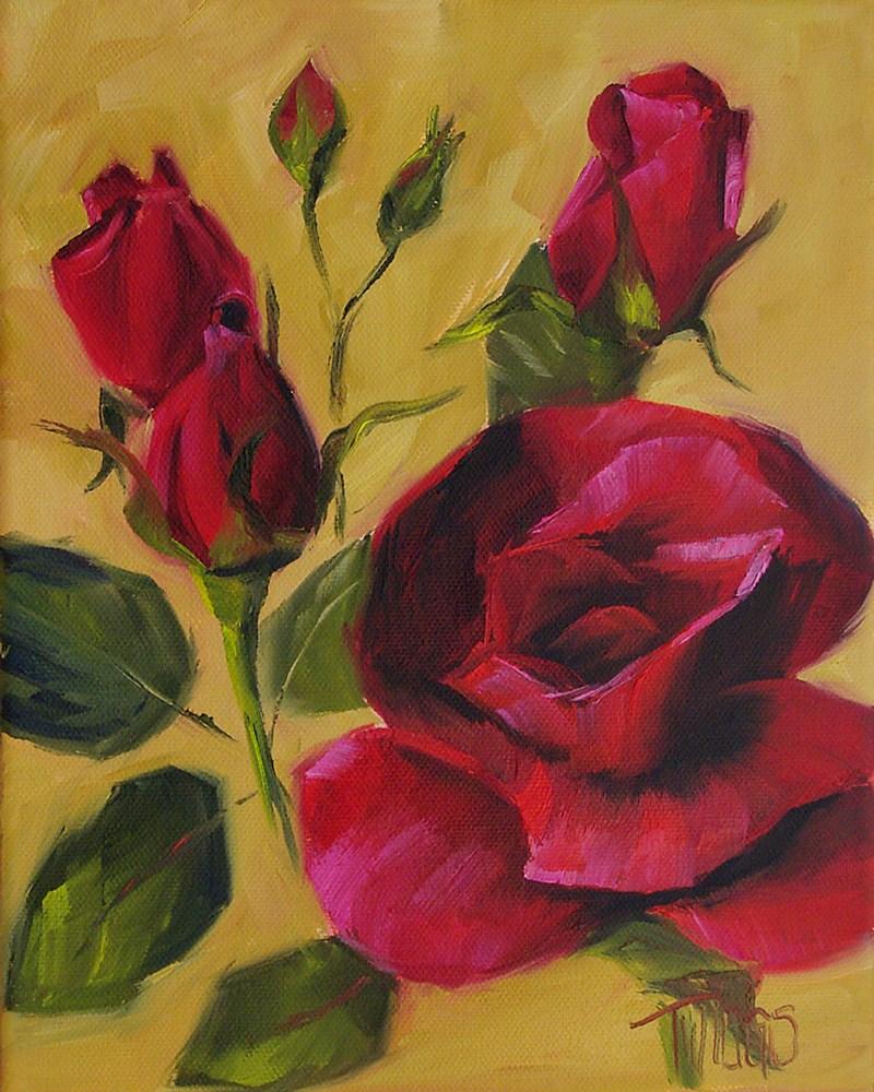 """Red Rose Keepsake"" original fine art by Lori Twiggs"