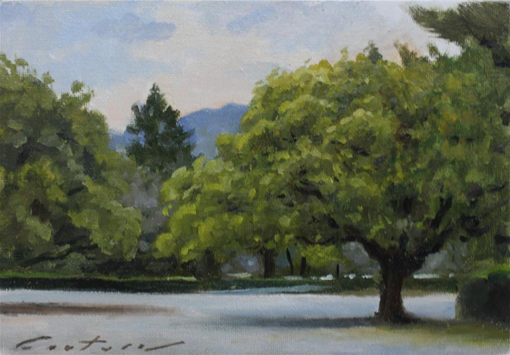 """""""Morning in the Park - Kyoto, Japan"""" original fine art by Phil Couture"""