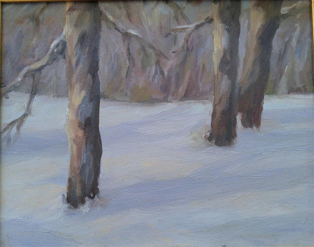 """Winter Wood"" original fine art by angela scully"