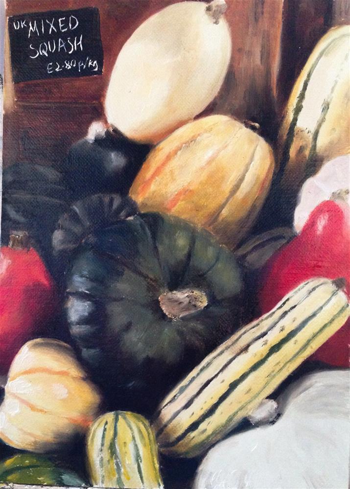 """""""Mixed Squash"""" original fine art by James Coates"""