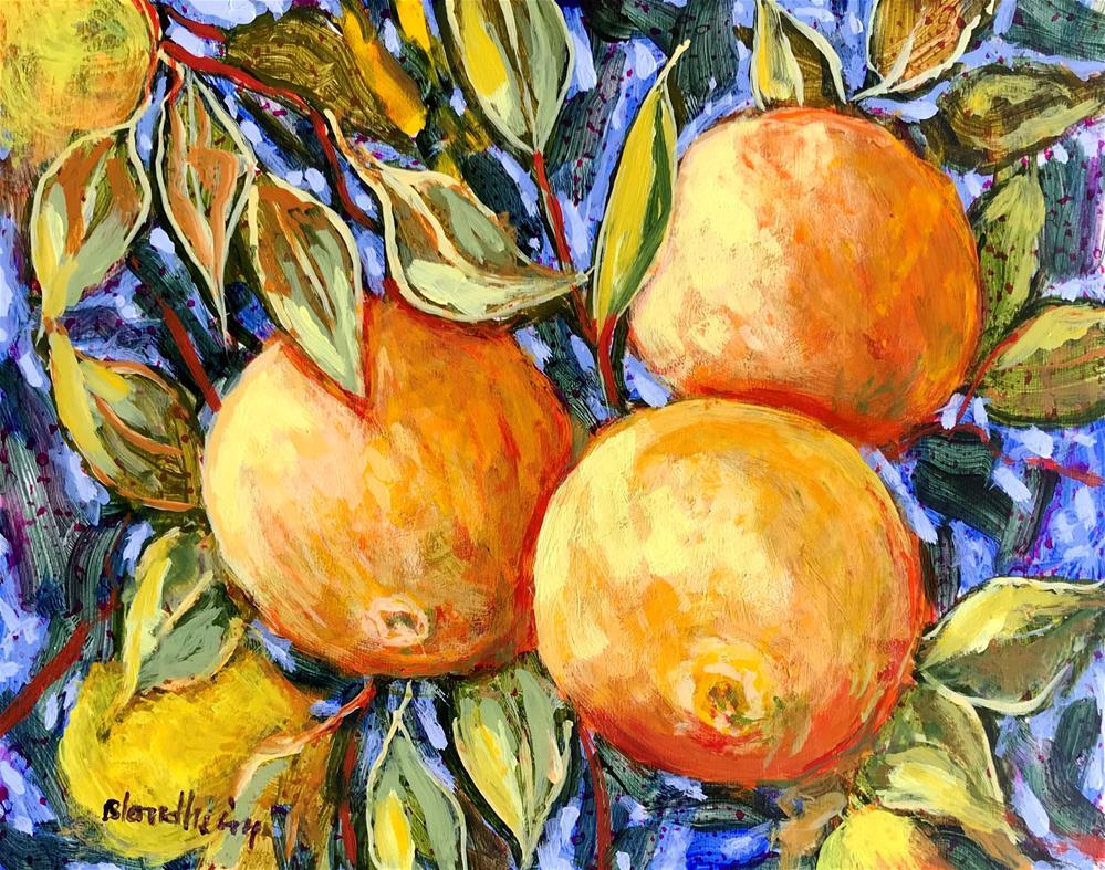 """Grapefruit Tree"" original fine art by Linda Blondheim"