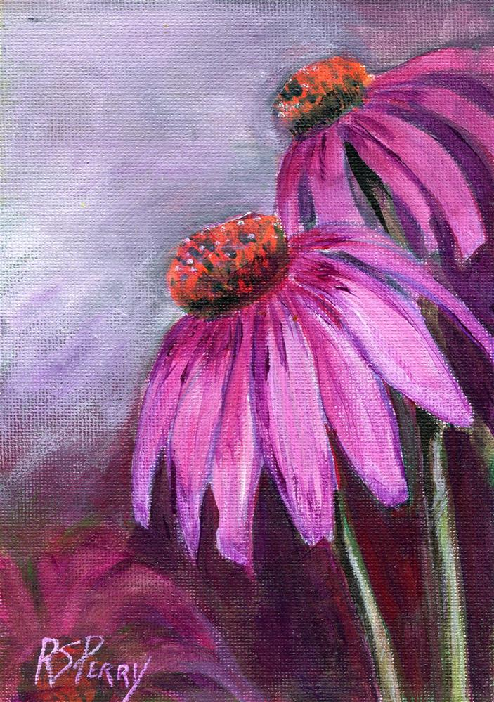 """Purple Coneflower "" original fine art by R. S. Perry"